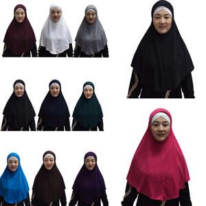 One-Piece-Amira-Long-Khimar-Hijab-Veil-Scarf-Muslim-Abaya-Jilbab-Niqab-Headcover