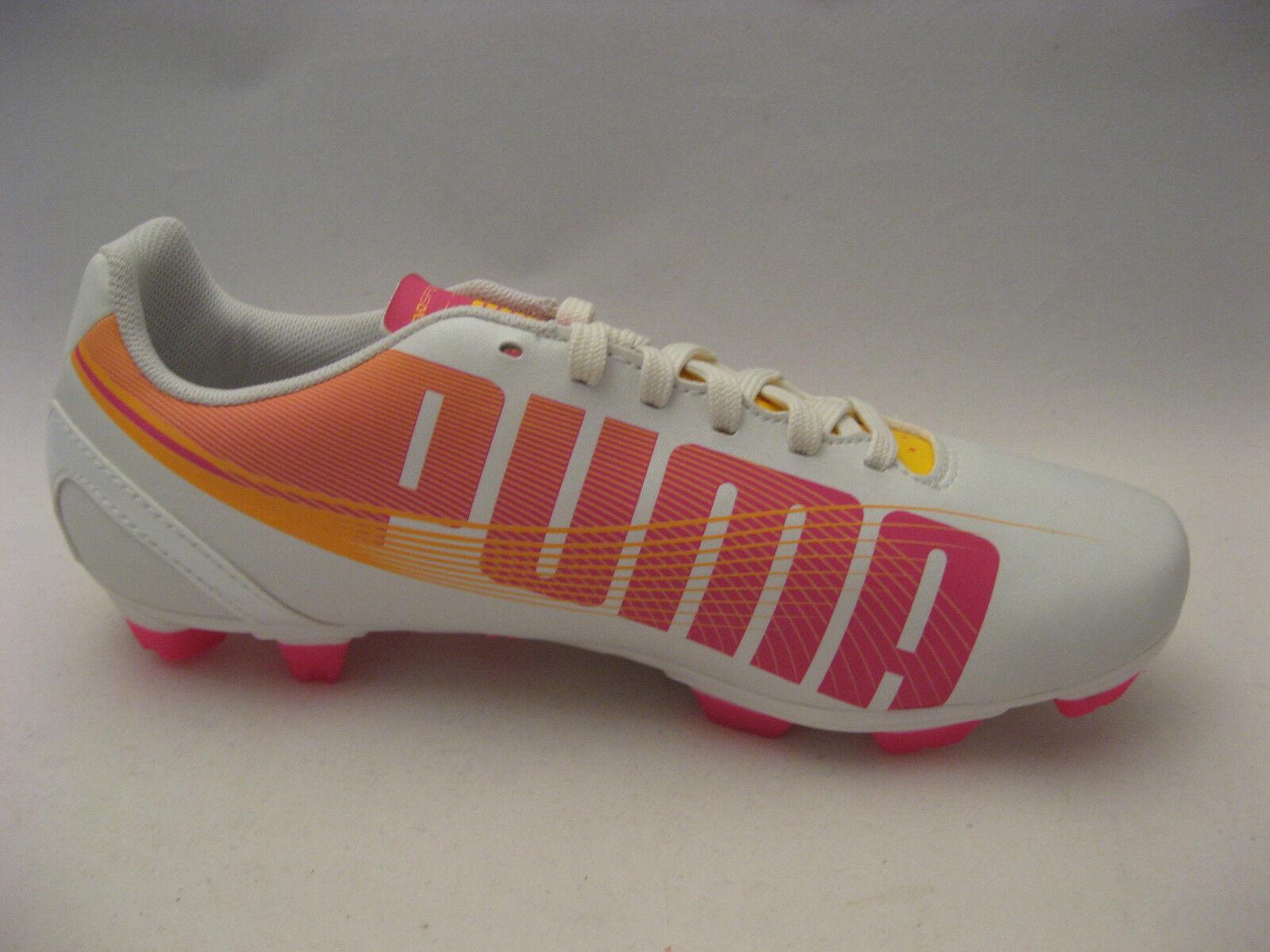 PUMA Women evoSPEED 10 5.2 FG Soccer Cleats 10 evoSPEED Medium Pearlized White Pink Orange a3be79