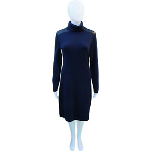 e599fa1f534d Image is loading Kate-Spade-Wool-amp-Leather-Knit-Sweater-Dress