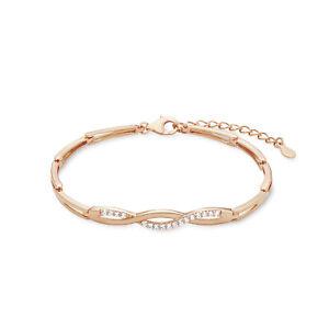 amor-Armband-fuer-Damen-17-3-cm-laengenverstellbar-925-Silber-rosevergoldet
