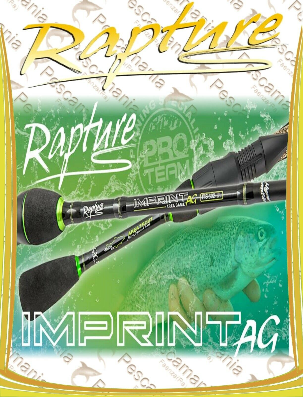 Canna spinning Rapture IMPRINT Area Game Licht spinning Area Speciaal forel trota