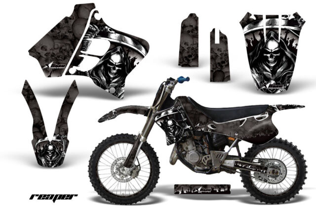Graphic Kit Decal Sticker Wrap + # Plates For Yamaha YZ125 YZ250 93-95 REAPER K