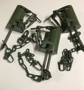 6 Powder Coated Duke DP Dog Proof Coon Traps Trapping Raccoon DP setter tool