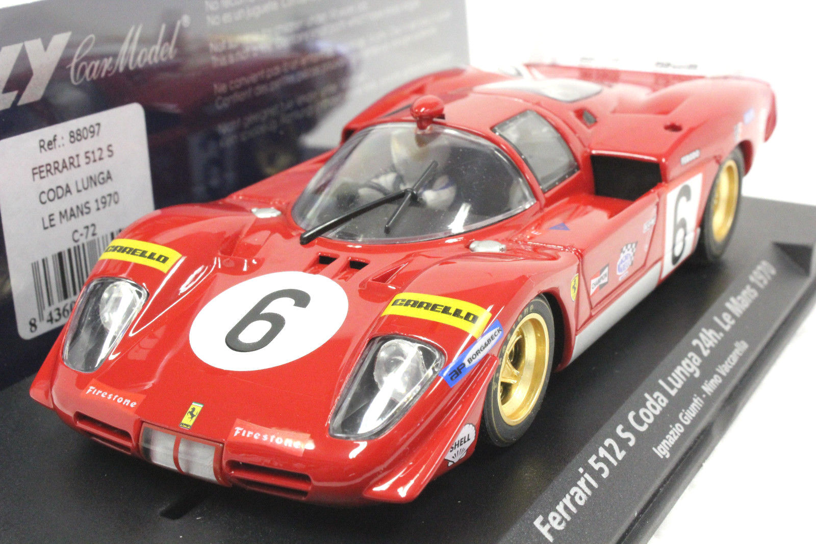 ahorrar en el despacho Fly ° C 72 72 72 Ferrari 512s Le Mans 2018 Nueva 1/32 Slot Car En Pantalla Funda  Más asequible