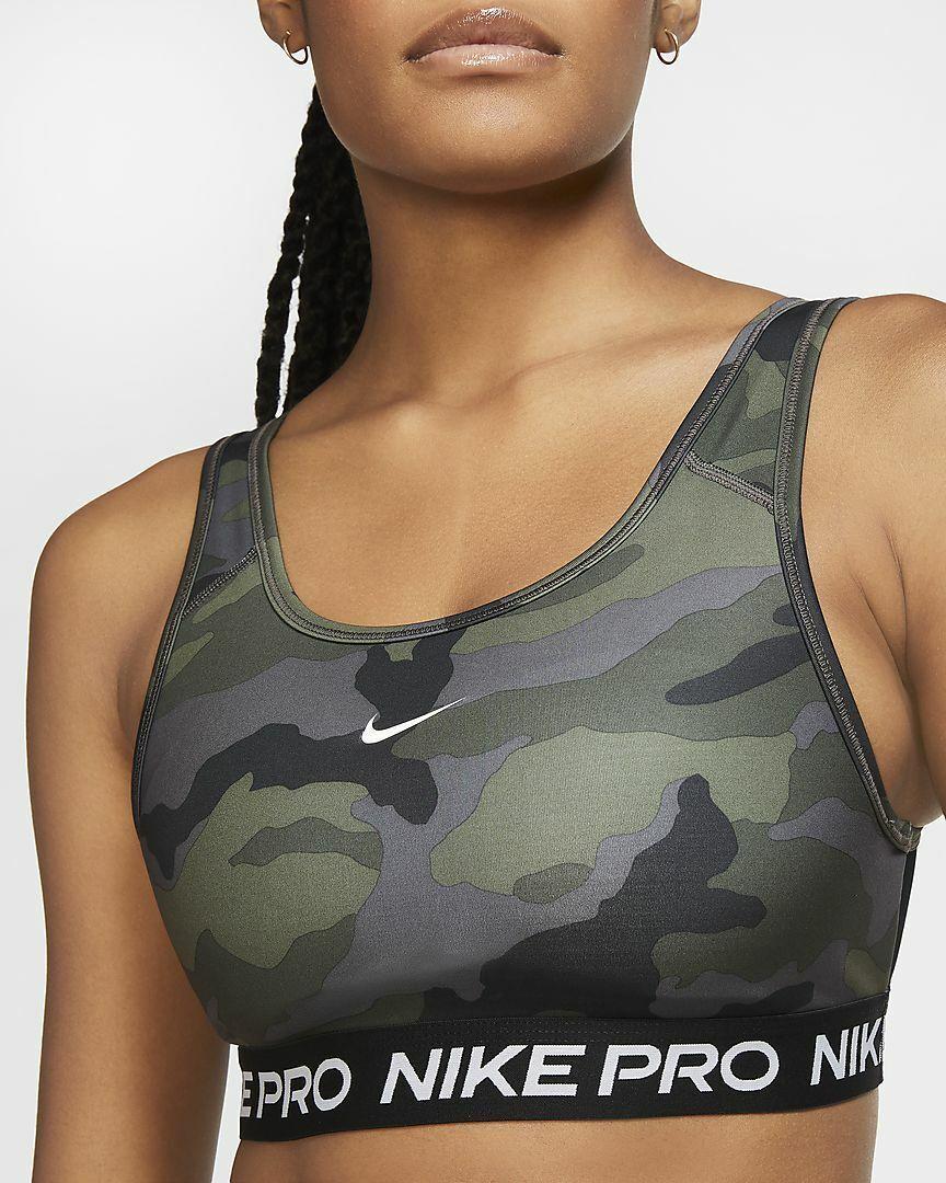 Nike Pro Swoosh Women's Medium-Support 1-Piece Pad Camo Sports Bra CU7353-010