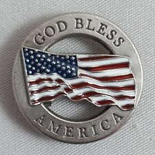 God Bless America Flag Concho CON964L
