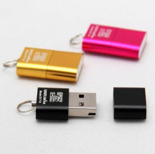 Mini USB 2.0 Micro SD MMC SDHC TF T-Flash Memory Card Stick Reader Adapter