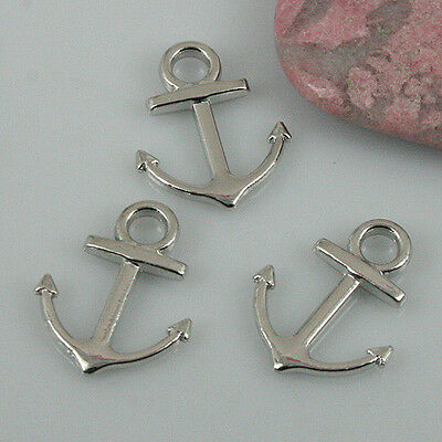 6 Colors to Pick Fashion Both-sided Simple Plain Anchor Charms DIY making