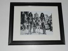 "Framed Kiss Ace, Gene, Paul, Peter 1976 Destroyer Promo City Shot 14"" by 17"""