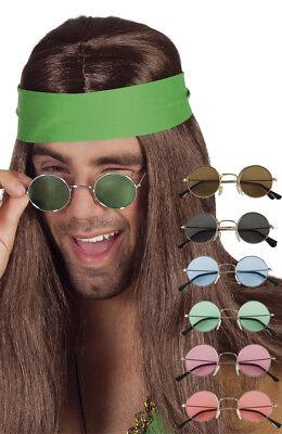 Lunettes De Soleil Rondes Hippie Accessoires Disco Adulte Déguisement Années 70