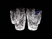 Set Of 6 Russian Cut Crystal Shot Glasses 50ml Hand Made, New, Free Shipping on sale