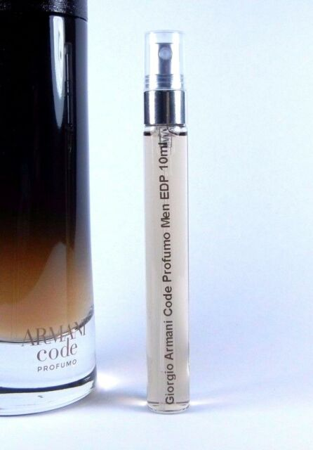 9ca6b82692 Giorgio Armani Code Profumo Eau de Parfum 10ml Men Glass Spray EDP 0.33oz  SAMPLE