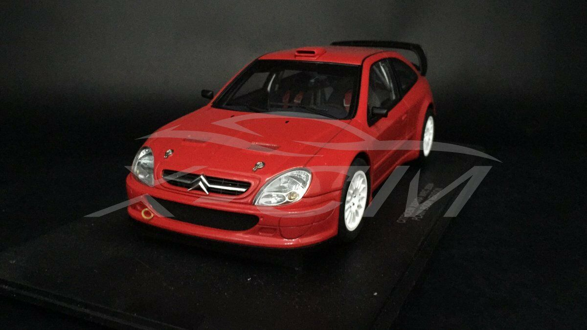 Diecast Car Model AUTOART 1 18 Citroen Xsara WRC 2004 Plain Body (Red) + GIFT