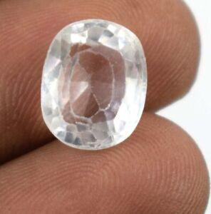 Season End Sale White Sapphire Cushion Gemstone Natural 7.10 Ct Certified A11253