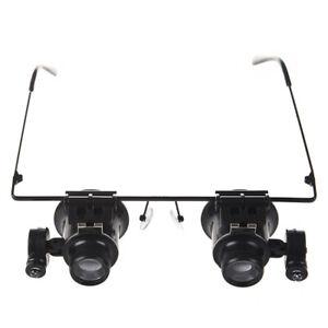 Schwarze-20X-Reparatur-Brille-Lupe-mit-LED-Licht-GY