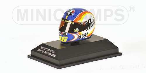 1 8 AGV Minichamps Valentino Rossi Winter Test 2005 Helmet Casco MEGA RARE NEW