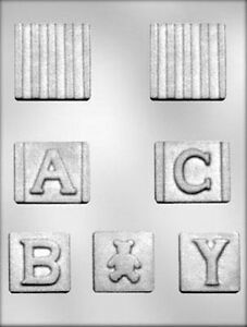 3D Baby Block Chocolate Candy Mold from CK #11533
