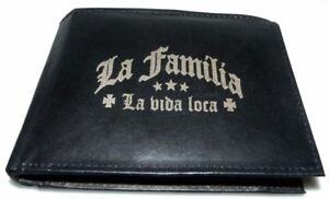La-Familia-Leder-Geld-Boerse-Yakuza-De-Puta-Madre-Mafia-Crime-T-shirt-Geldbeutel