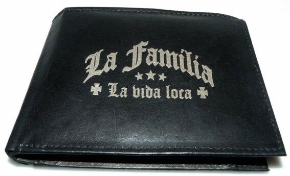 La Familia Leder Geld Börse Yakuza De Puta Madre Mafia Crime T-shirt Geldbeutel