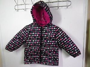 9ff9707f33fe FADED GLORY GIRLS SIZE 24 MONTHS BLACK Puffer Jacket COAT POLY ...
