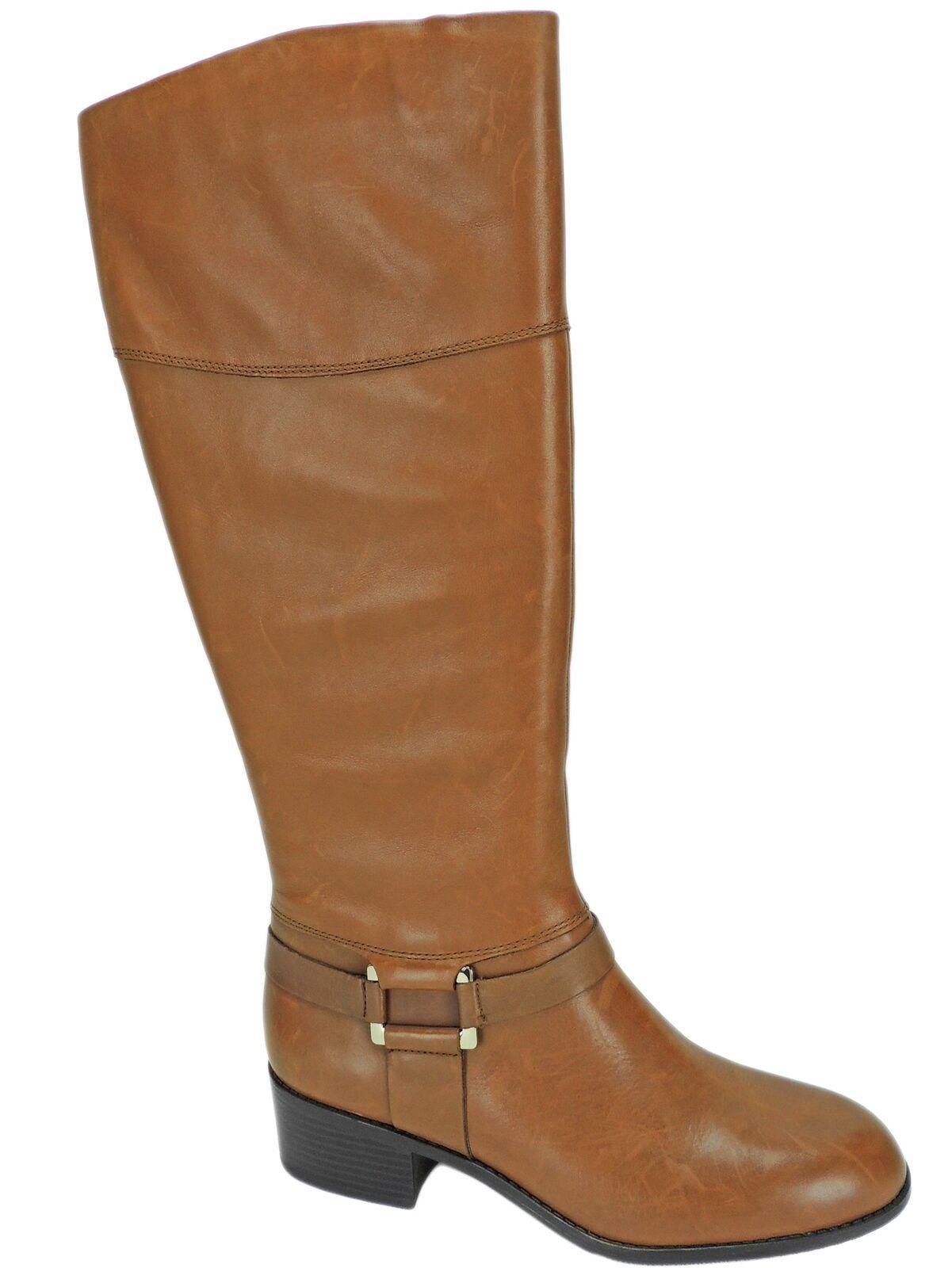 Alfani para mujer biliee ancho de la Pantorrilla botas De Montar M WC Coñac Cuero