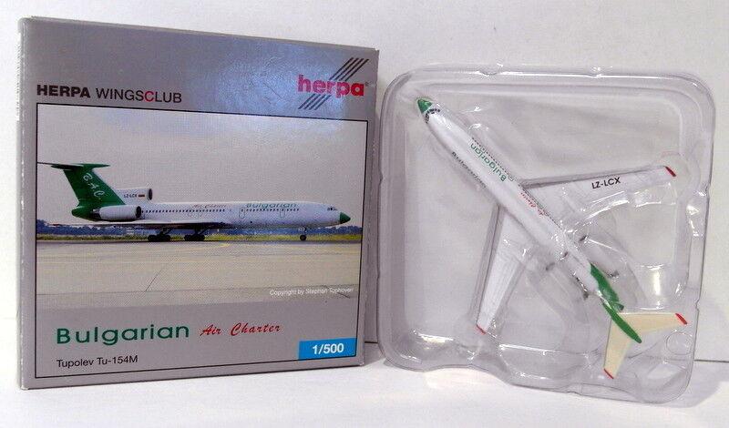 Herpa 1 500 Scale diecast - 510899 Bulgarian Air Charter Tupolev Tu-154M