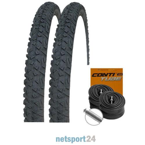 """CONTI SCHLÄUCHE 26/"""" 57-559 2 x Continental Gravity Fahrrad MTB Reifen 26x2.30"""