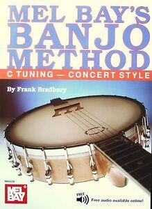 Mel-Bay-Banjo-Method-Book-for-C-Tuning-Concert-Including-Free-Audio-Download