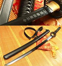 "41"" FOLDED  STEEL BLACK  CLAY TEMPERED FULL TANG JAPANESE SAMURAI SWORD KATANA"