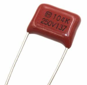 CAP FILM 0.1UF 10/% 250VDC RADIAL