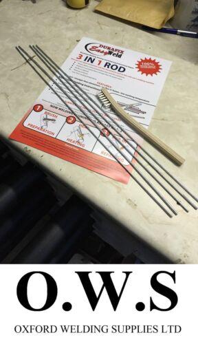 Brazing /& Soldering 5 Rod Kit Dura fix Durafix Easyweld Aluminium Welding