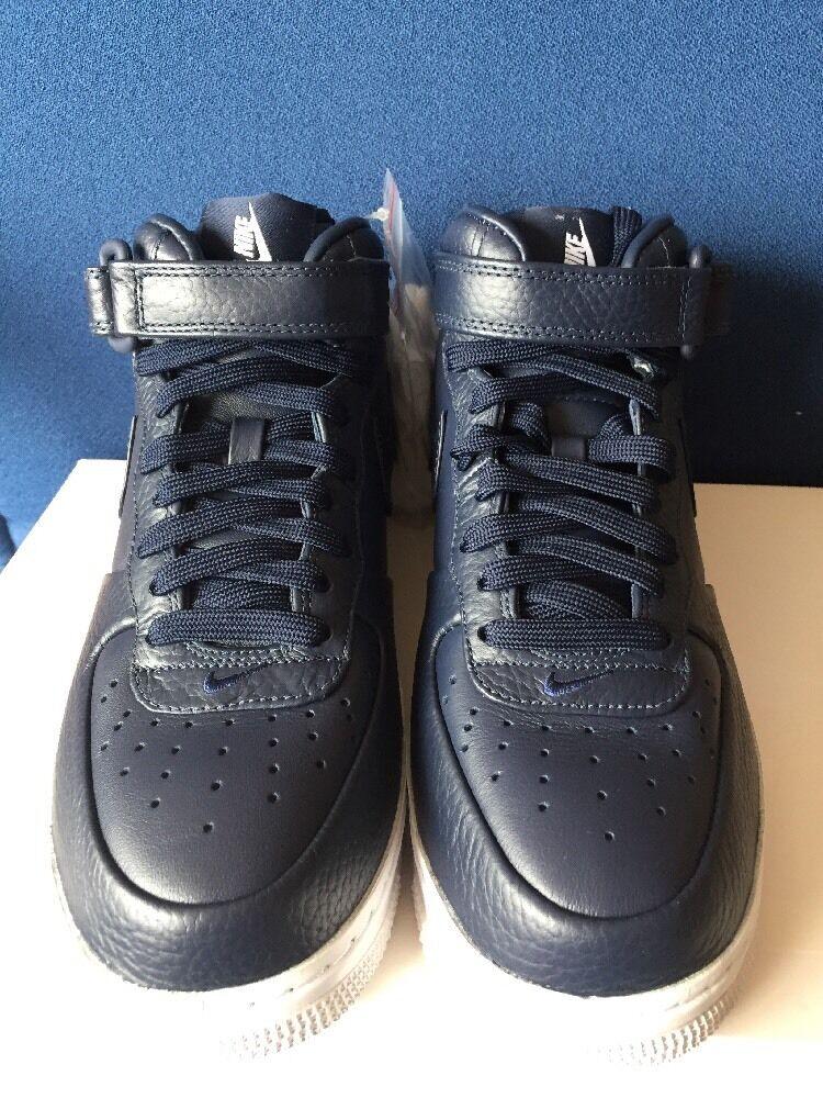 nikelab force air force nikelab 1 mi - obsidian Bleu    sz 5 nike af1 chaussures 819677-400 marine 862c11