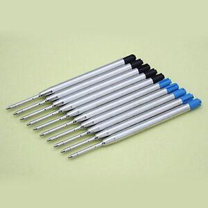 ITS-10pcs-Blue-Black-Ink-Parker-Compatible-0-5mm-Ballpoint-Pen-Refills-Latest