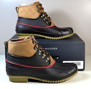 82732dcb3cb2 NIB TOMMY HILFIGER RINAH DARK BROWN SNOW BOOTS WINTER SHOES SZ 5 6 ...