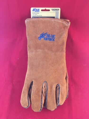Blue Hawk Leather Welding Gloves Professional Heavy Duty High Temp Brand New