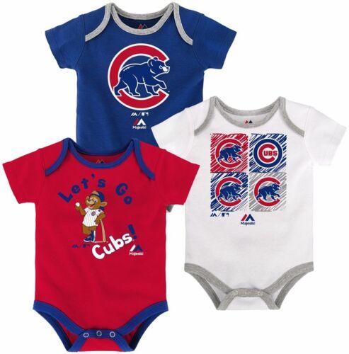Chicago Cubs Creeper Set 3 Piece Go Team