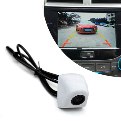 12V 140° Wide Viewing Angle Car Front View Camera Parking Cam Waterproof White