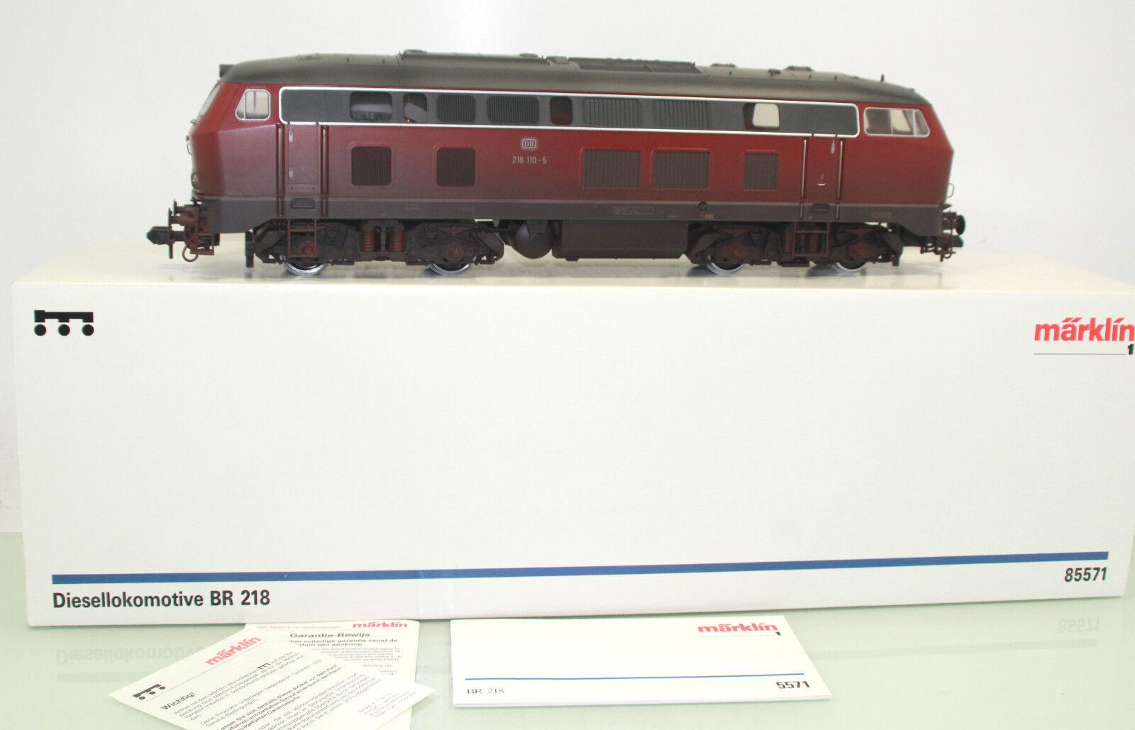Märklin pista 1 85571 diesellok br 218 110-5 de la DB patinado en digital + embalaje original (ef83)