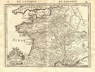 'carte Generale De France' Showing Towns, Rivers & Provinces. Mallet 1683 Map Modern And Elegant In Fashion