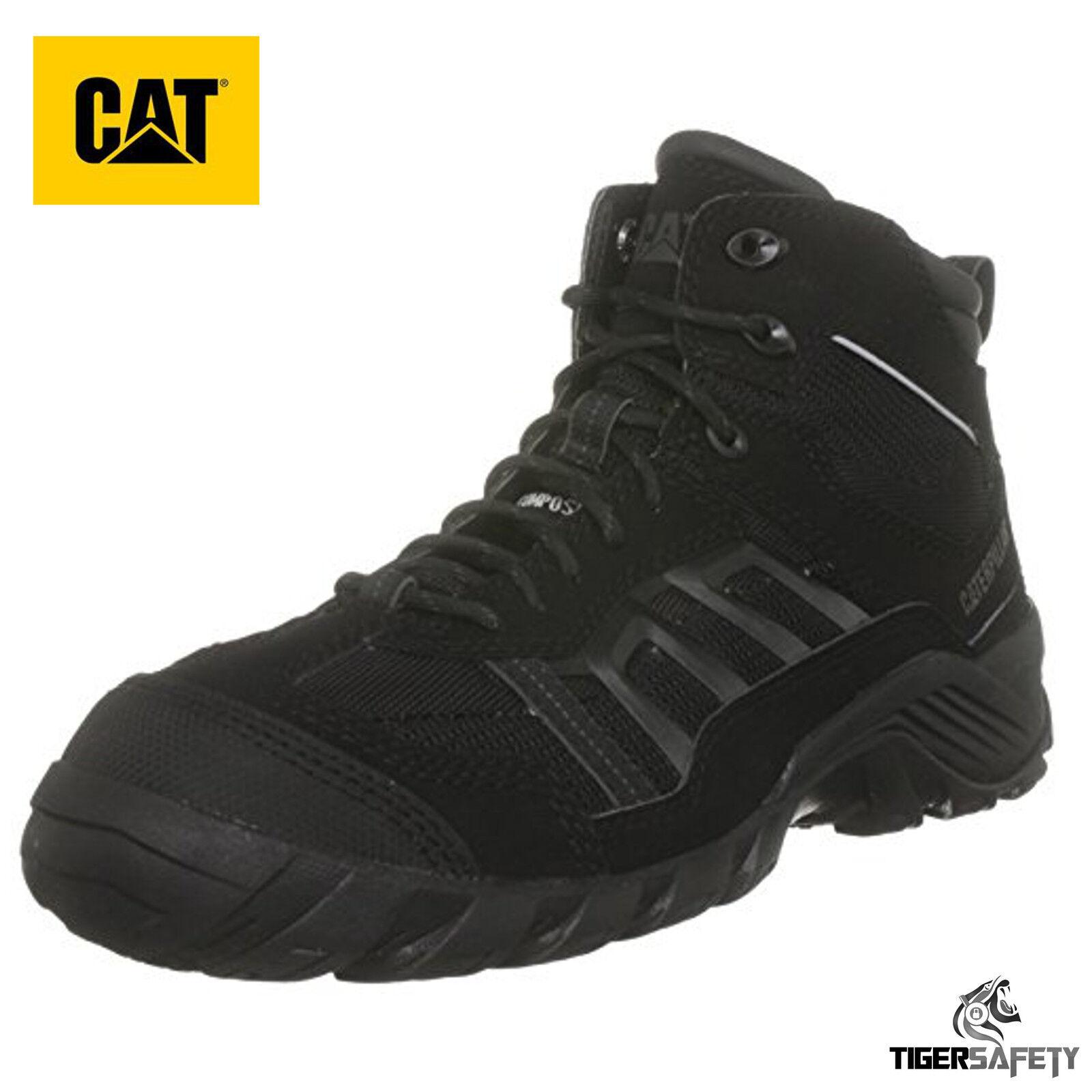 Caterpillar CAT Formazione Hi Taglia 6 S1P S1P S1P SRC NERO COMPOSITO Puntale Stivali di sicurezza 6154a2
