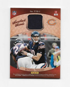 best cheap 63bbd 45df9 Details about 2018 Elite Throwback Jersey Threads Doubles Mitchell Trubisky  Chicago Bears /25