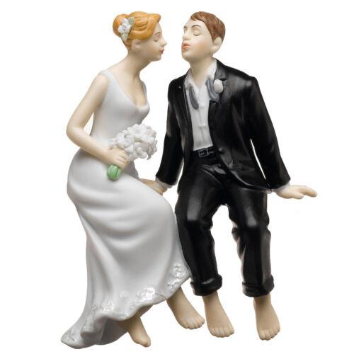Tortenfigur Sitting Bride /& Groom Tortenaufsatz Tortendeko Hochzeitstorte