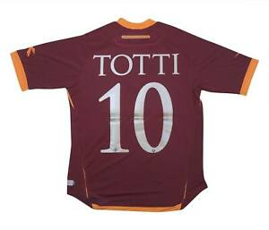 ROMA 2006-07 AUTHENTIC PLAYER ISSUE HOME SHIRT TOTTI #10 (Nuovo con Scatola) S Soccer Jersey