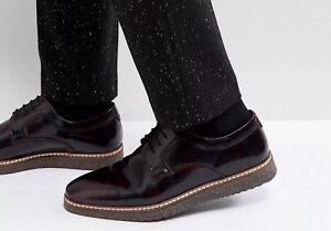 f23dc683827b Asos Leather Derby Shoes Burgundy   Speckle Wedge Sole BNIB SIZE 9.5 ...