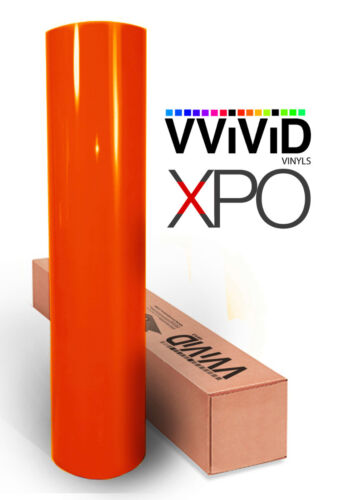 Firebelly orange Gloss car vehicle vinyl wrap 30ft x 5ft cast film VViViD XPO