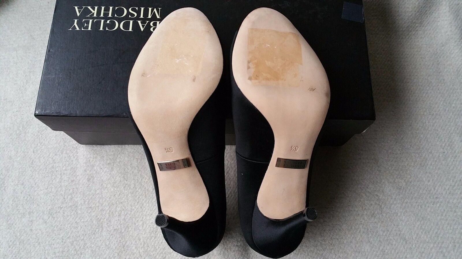 Badgley Mischka Embellished Seduce 5.5 Peep Open Toe Crystal Embellished Mischka Satin Heels Schuhes 31d1e8