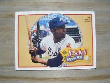 1991 Upper Deck Baseball Heroes #21 Hank Aaron - Braves - Free Ship