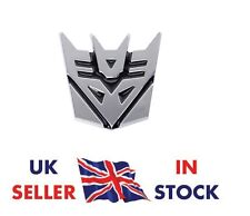 TRANSFORMERS CAR BADGE AUTOBOT 3D CHROME STICKER EMBLEM DECAL LOGO UK SELLER NEW