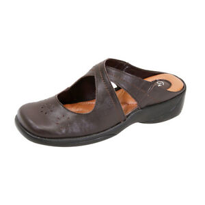 c7e07ad1257b FIC PEERAGE Casey Women Wide Width Casual Leather Comfort Clogs for ...