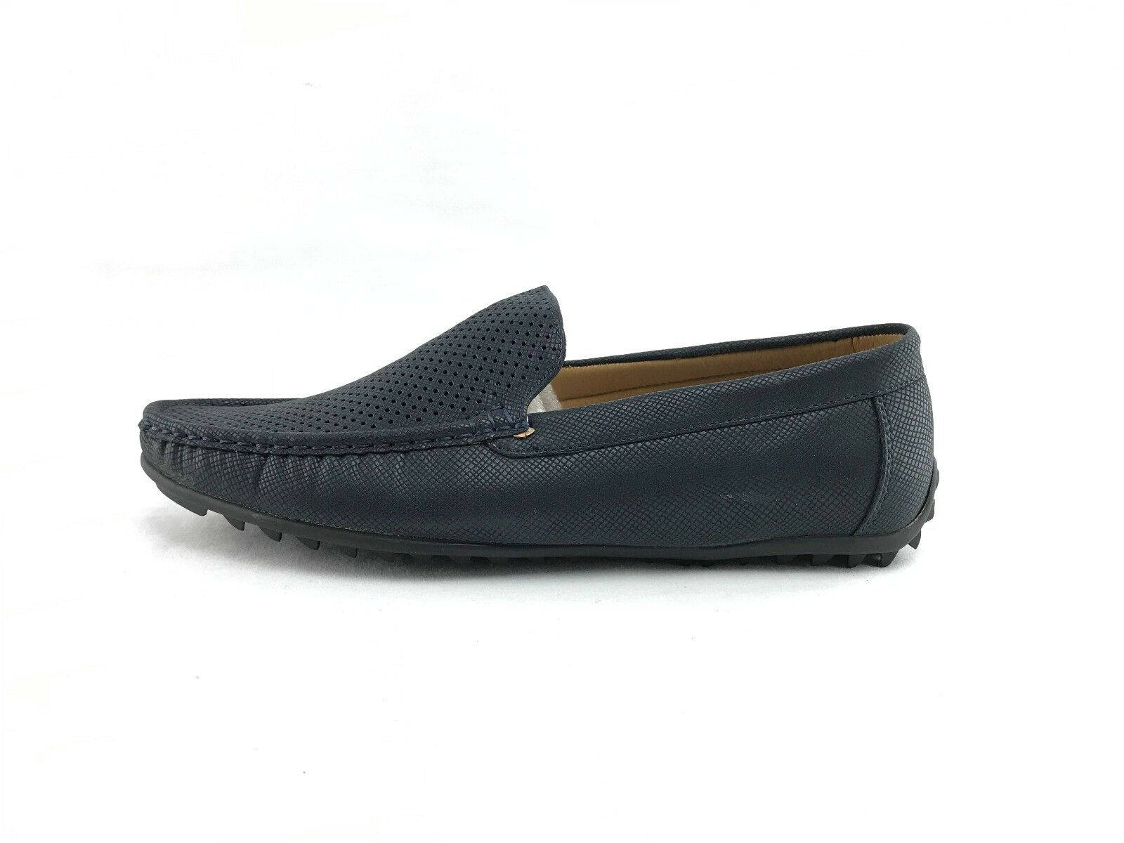 NEW Quentin Ashford 2632 Men's Navy On Go The Go On Premium Driving Shoes US Sz 7 A456 4e309b